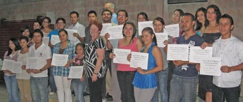 Graduates of LST course